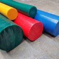 Colourful Plastic round bars