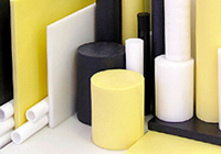 Yellow, black and white plastic shapes